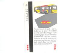 TEC  N° 1 UNE CARTE DE BUS METRO TRAM - Subway