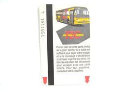 TEC  N° 6 UNE CARTE DE BUS METRO TRAM - Subway