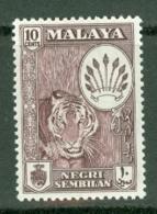 Negri Sembilan: 1957/63   Pictorial     SG74    10c    Deep Maroon    MH - Negri Sembilan