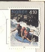 NORGE - RAFTING  - On Postcard - 1993 - Rafting