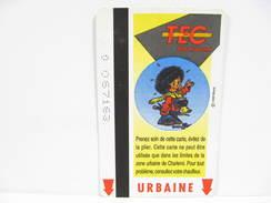 BOUT´CHIQUE FRANCOIS WALTHERY N° 6 UNE CARTE DE BUS METRO TRAM TEC CHARLEROI - Métro