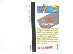 SCRAMEUSTACHE N° 2 UNE CARTE DE BUS METRO TRAM TEC CHARLEROI - Subway