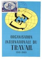 CM Monaco - Organisation Internationale Du Travail - 25/11/1969 - Maximumkarten (MC)