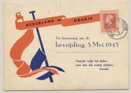 Nederland - 1947 - Bevrijdingszegels Op Speciale Kaart - Nederland En Oranje - Lokaal Amsterdam - Brieven En Documenten
