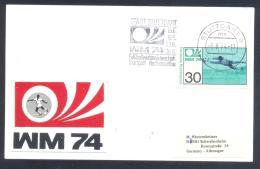 Germany 1974 Card; Football Soccer Fussball Calcio; FIFA WM World Cup Weltmeisterschaft; Stuttgart Neckarstadion Slogan; - Coppa Del Mondo