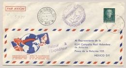 Nederland - 1952 - 50 Cent Juliana En Face - Enkelfrankering Op LP-cover Van Tilburg Naar Mexico - 1949-1980 (Juliana)