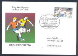 Germany 1990 Cover; Football Soccer Fussball Calcio; FIFA WM World Cup Weltmeisterschaft Mundial Italia 90 Dusseldorf - 1990 – Italia