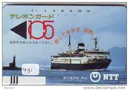 Télécarte Ship (431) Bateau - FRONT BAR BALKEN 410-015 Schiff - Schip - Barco Japan BOOT - Schiffe