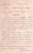 HAUTES ALPES - SAINT CHAFFREY - NOTE DE LA MAIRIE A MR ROUX MARBRIER A GAP , CONSTRUCTION MONUMENT AUX MORTS - 1920 - France