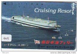 Telefonkarte Télécarte Ship (405) Bateau - Schiff - Schip - Boot - Barco - Phonecard Japon Japan - Schiffe