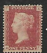 Great Britain Queen Victoria, 1858,  1d Red Perforated,late No 188, MH * - Unused Stamps