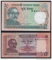 Bangladesh SET - 2 & 5 Taka 2011 - UNC - Bangladesh