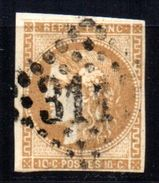France Emission Bordeaux N° 43 Report I Bistre Brun  Cote : 130,00€ - 1870 Bordeaux Printing