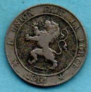 C2/  BELGIQUE / BELGIUM  5 CENTS 1861  French Légend - 03. 5 Centiem