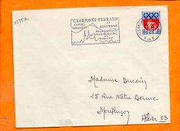 PUY De DOME, Clermont Ferrand, Flamme SCOTEM N° 1235a, Centre Du Tourisme En Auvergne - Marcophilie (Lettres)