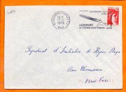 PUY De DOME, Clermont Ferrand, Flamme SCOTEM N° 3049a, Aeroport Du Centre De La France - Marcophilie (Lettres)