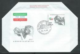 1985 ITALIA AEROGRAMMA AEROFILATELIA FDC - 2 - 6. 1946-.. Repubblica