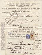 ETs. Casimir Perrier, Neauphle Le Château, Sciage Des Pierres,marbres 1937 - France