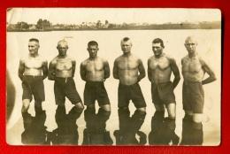 LATVIA LETTLAND SOLDIERS MEN SEMI NUDE VINTAGE PHOTO POSTCARD 450 - Vintage Men < 1945