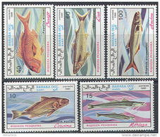 0869 Fauna Fishes Fish Marine Life 1991 Shr 5v Set MNH ** - Fishes