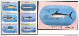 1925 Fauna Fishes Marine Life 1997 Shr Set 6+S/s MNH ** - Fishes