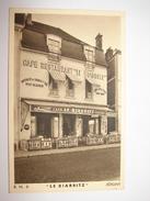 """C.P.A.-  Joigny (89) - Café Restaurant """" Le Biarritz """" R.N.6 - 1948 - SPL (K12) - Joigny"""