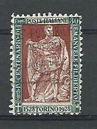 1928  N° 215  EMMANUEL PHILIBERT DE SAVOIE   OBLITERE - 1900-44 Vittorio Emanuele III