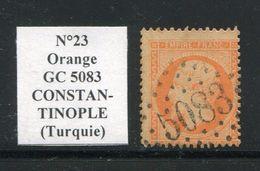 FRANCE- Y&T N°23- GC 5083 (CONSTANTINOPLE Turquie) Assez Rare!!!! - 1862 Napoléon III.