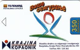 BOSNIA - Republica Srpska Telecard, Krajina/Kopaonik, Sample No Chip And No CN - Bosnia