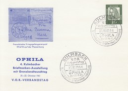 PP 24 D2/1 OPHILA - 4. Kulmbacher Briefmarken-Ausstellung Mit Grenzlandtauschtag 1961 -V.B.-Verbandstag, Kulmbach - Postales Privados - Usados