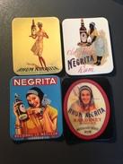 4 MAGNETS Rhum NEGRITA Reproduction Ancienne Publicite Ou Affiche - Publicitaires