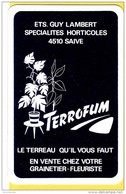 Dos De Carte : Ets Guy Lambert Saive Fleurs Terreau - Kartenspiele (traditionell)