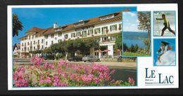 Malbuisson Hotel Restaurant LE LAC  ( Frasne Pontarlier Doubs  )  Carte Panoramique 10X21 Cm Env - Pontarlier