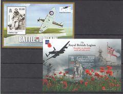E213 2010 GIBRALTAR AVIATION WAR BATTLE OF BRITAIN ROYAL BRITISH LEGION 2BL MNH - WW1