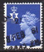 GB N. Ireland 1971-93 15p Phosphor Regional Machin, Used, SG 33 - Northern Ireland