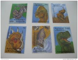 Antigua Barbuda-Dinosaurs-Prehist Oric - Prehistorics