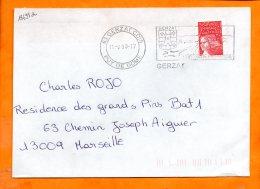 PUY De DOME, Gerzat, Flamme SCOTEM N° 18695a, Porte De La Limagne, SECAP HPS, Flamme à Droite - Poststempel (Briefe)