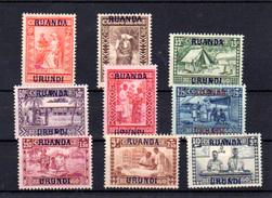 1930  Ruanda  Goutte De Lait  éducation , 81 / 89*, Cote 70 €, - Ruanda-Urundi