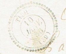 LANDES 40 TILH LSC TAD Type 22 Du 10/01/1856 PC 3366 Sur N° 13  TTB Ind17 - Marcophilie (Lettres)