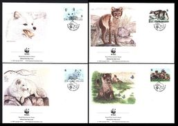 WWF Finland Finlande Arctic Fox Renard Eisfuchs 1993 4 FDC 1er Jour - FDC