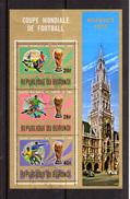 1974    Coupe Du Monde De Football, 100X   BURUNDI Bloc  76 Ø, Cote 600 € - Coppa Del Mondo