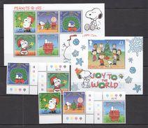 E222 GIBRALTAR CHRISTMAS 2001,2003 JOY TO THE WORLD 1BL+1SET+1KB MNH - Fantasy Labels