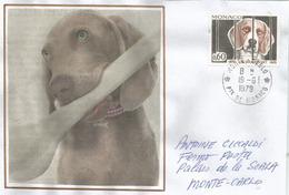 NON à L'abandon Du Chien, Loi Grammont De 1850, Sur Lettre Locale De Monaco - Dogs
