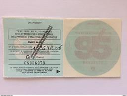 TIMBRES FISCAUX DE FRANCE Vignette Automobile G// De 1995 - Fiscaux
