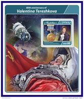 MALDIVES 2017 ** Valentina Tereshkova Space Raumfahrt Espace S/S - OFFICIAL ISSUE - DH1716 - Spazio