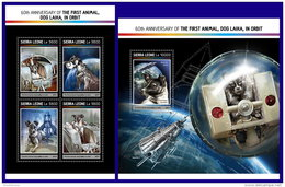 SIERRA LEONE 2017 ** 1st Animal Dog Laika In Space Raumfahrt Espace M/S+S/S - OFFICIAL ISSUE - DH1716 - Africa