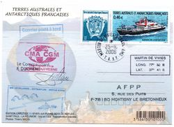 TAAF - 2006 - Courrier Posté à Bord - Signé Par Le Commandant - - French Southern And Antarctic Territories (TAAF)