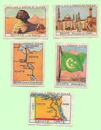 Images Chocolat PUPIER Afrique -Egypte -244-245-249--251-252 - Chocolat