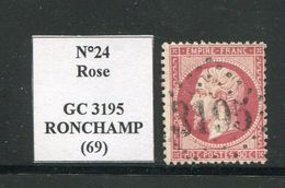 FRANCE- Y&T N°24- GC 3195 (RONCHAMP 69) - Marcophily (detached Stamps)