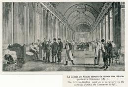 Photo (1922), CHATEAU DE VERSAILLES  : La Galerie Des Glaces Servant De Dortoir Aux Députés Pendant La Commune (1871) - Collections